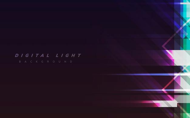 Digitale lichte achtergrond Gratis Vector