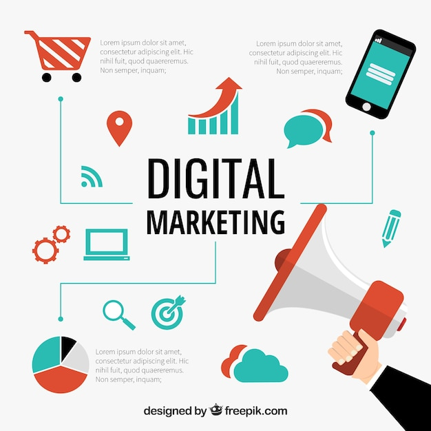 Digitale marketing concept Gratis Vector