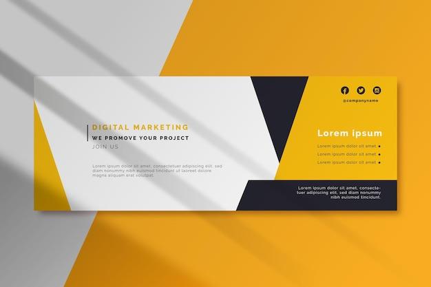 Digitale marketing facebook omslagsjabloon Gratis Vector