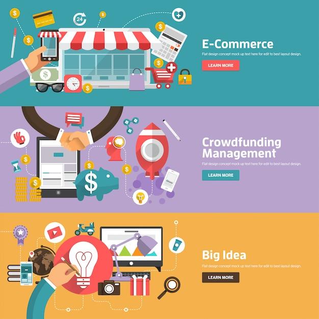 Digitale marketingillustraties Premium Vector