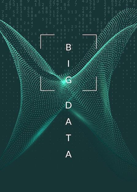 Digitale technologie abstracte achtergrond. kunstmatige intelligentie, diep leren en big data-concept. Premium Vector