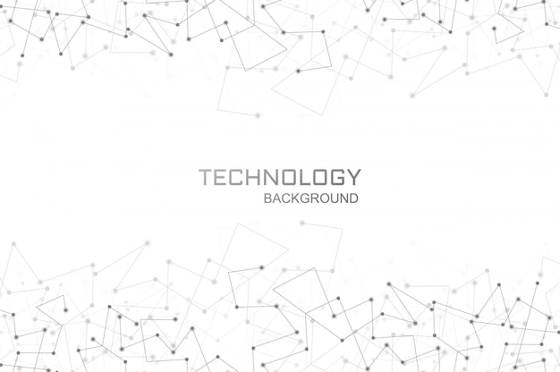 Digitale technologie veelhoek verbinding achtergrond Gratis Vector
