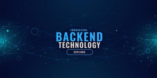 Digitale technologieachtergrond met gloeiend lijnennetwerk Gratis Vector