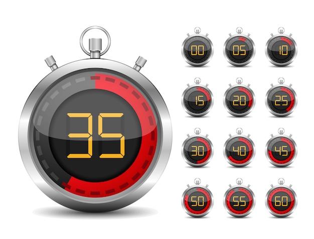 Digitale timer Premium Vector