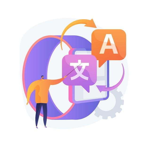 Digitale vertaler abstract concept illustratie Gratis Vector