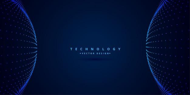 Digitale wetenschap en technologiestijlachtergrond Gratis Vector