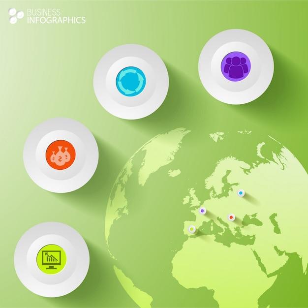 Digitale zakelijke infographic sjabloon Gratis Vector