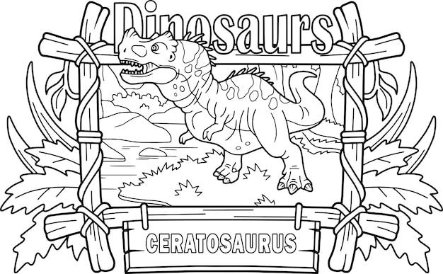 Dinosaurus ceratosaurus Premium Vector