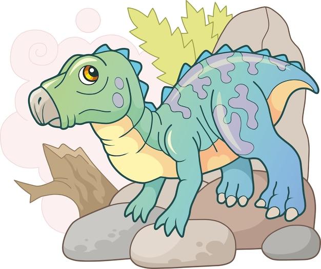 Dinosaurus iguanodon Premium Vector