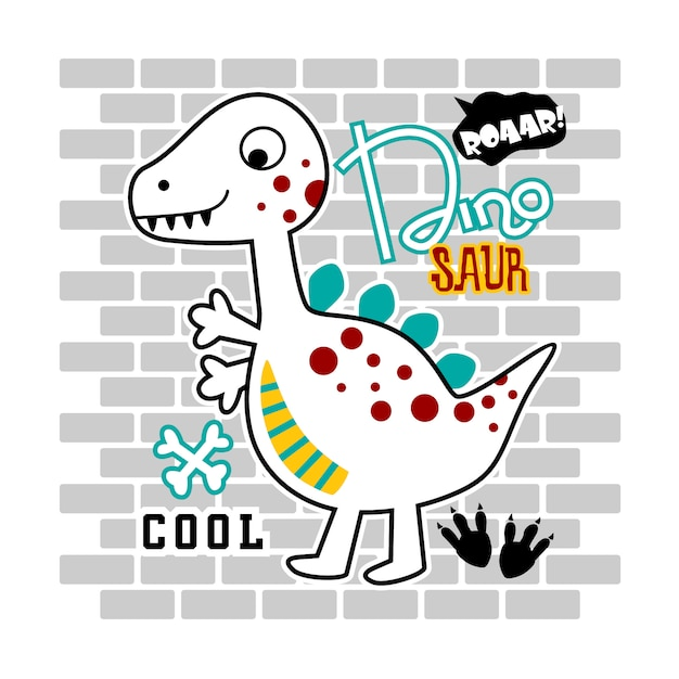 Dinosaurus ontwerp Premium Vector