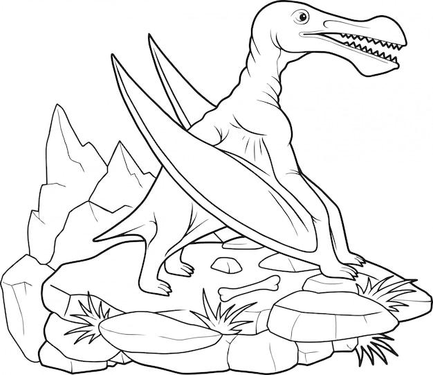 Dinosaurus pterosaur Premium Vector