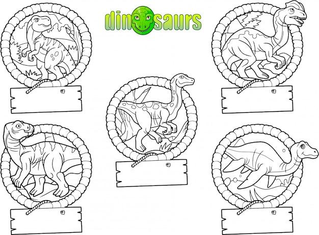 Dinosaurus set Premium Vector