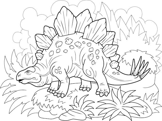 Dinosaurus stegosaurus Premium Vector
