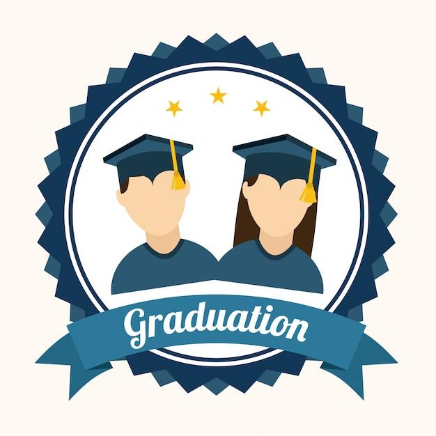 Diploma uitreiking Premium Vector