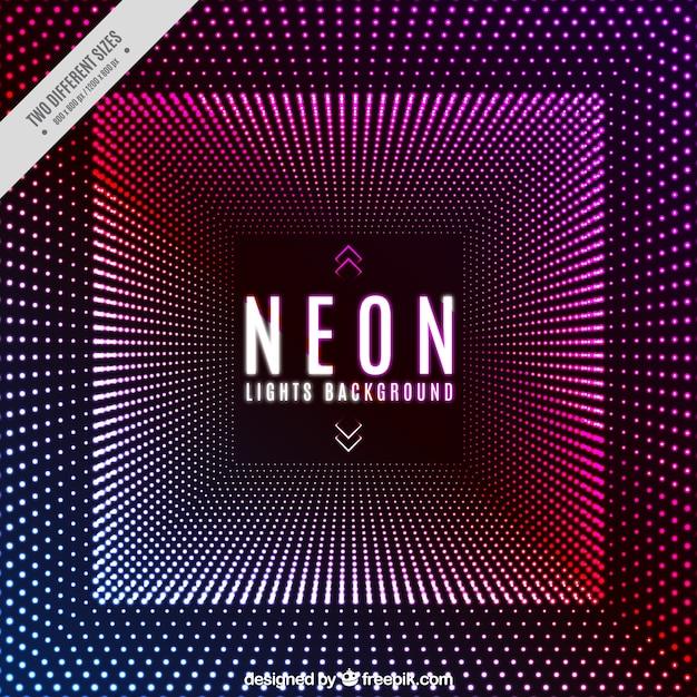 Disco achtergrond met neonlichten Gratis Vector