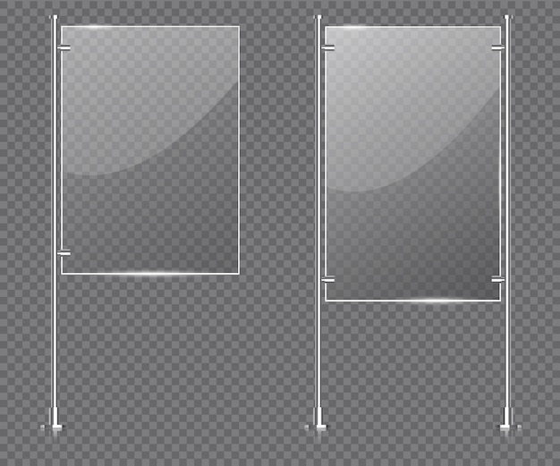 Displaystandaard Premium Vector