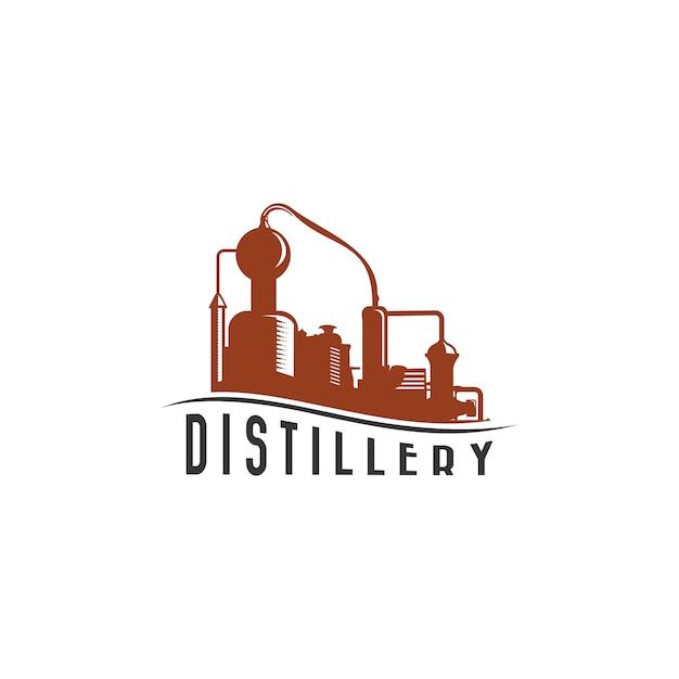 Distillery uitstekend logo Premium Vector