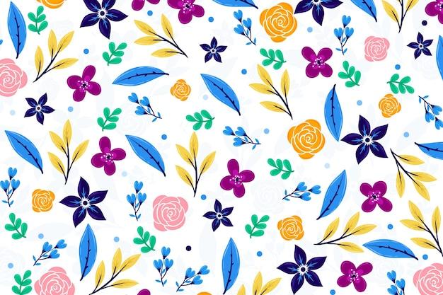 Ditsy bloemen behang Gratis Vector