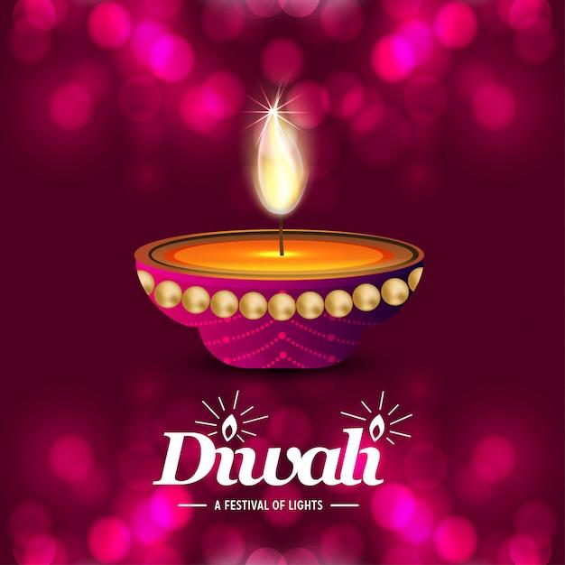 Diwali achtergrond Gratis Vector