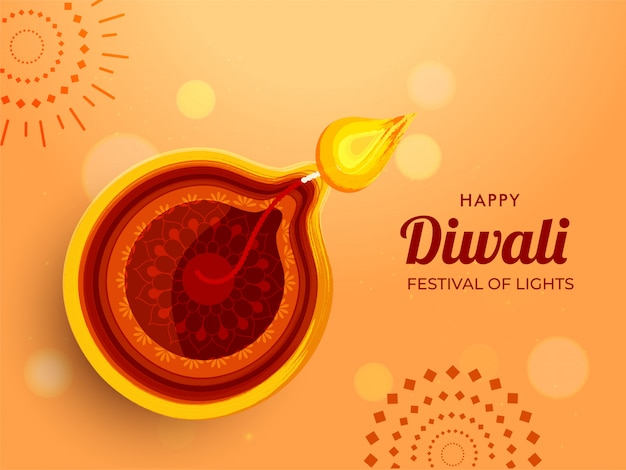Diwali festival achtergrond. Premium Vector