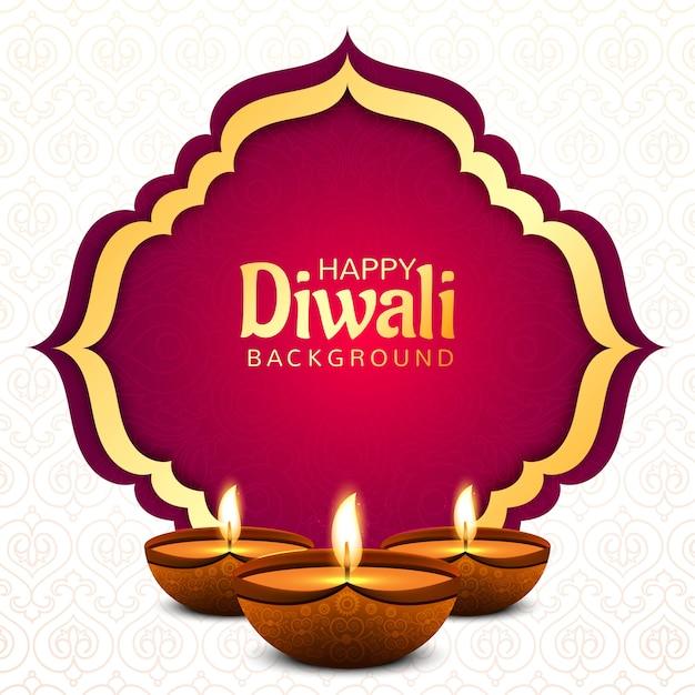 Diwali hindu festival wenskaart achtergrond Gratis Vector
