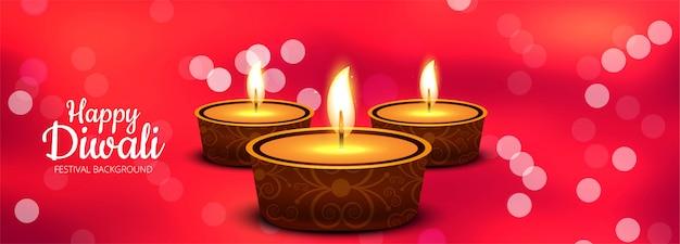 Diwali indisch kleurrijk festival van lichtenbanner Gratis Vector