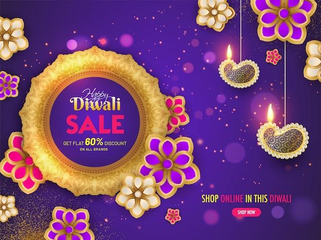 Diwali verkoop banner Premium Vector