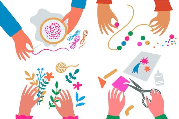 Diy creatieve workshop concept illustratie Gratis Vector