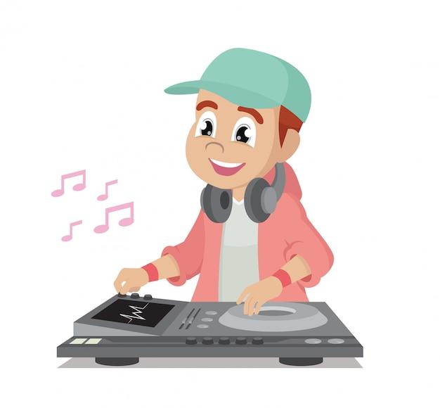 Dj muziek beats. Premium Vector