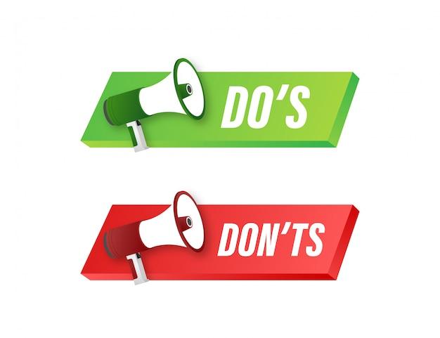 Do's en houdt niet van duimen omhoog of omlaag. eenvoudige duim omhoog symbool minimale ronde logo-element ingesteld op wit. illustratie. Premium Vector