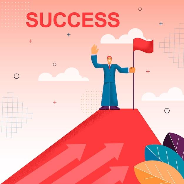 Doel behalen tevredenheid uit succes behalen Premium Vector