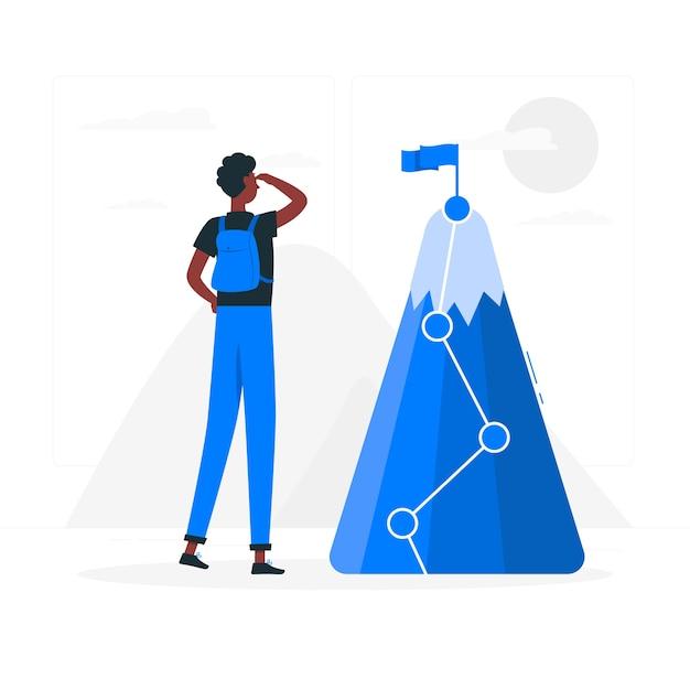 Doel illustratie concept Gratis Vector