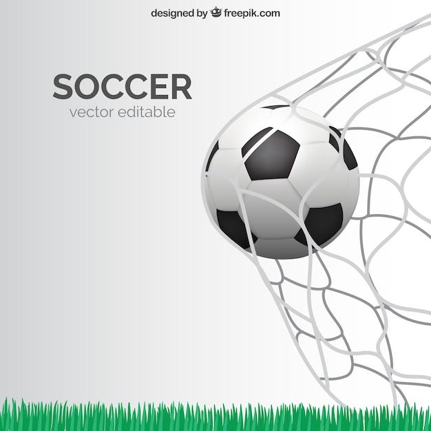 Doel van het voetbal Gratis Vector