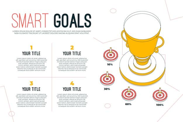 Doelen infographic concept Gratis Vector
