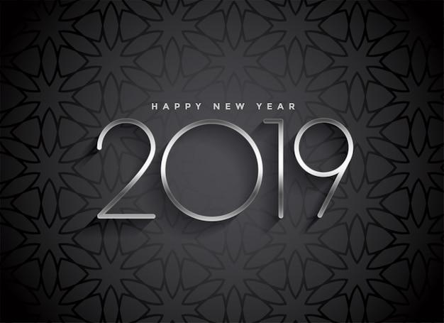 Donker 2019 elegant ontwerp als achtergrond Gratis Vector