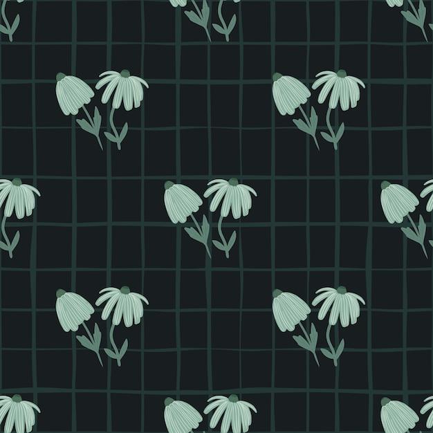 Donker bloemen naadloos patroon met gestileerd ornament. Premium Vector