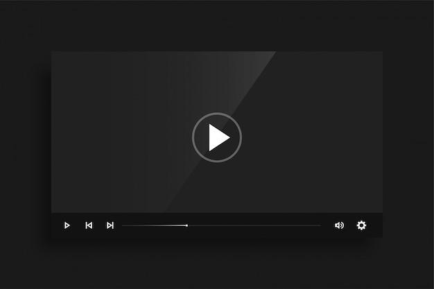 Donker zwart videospel sjabloon skin ontwerp Gratis Vector