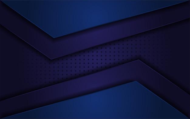 Donkerblauwe abstracte realistische achtergrond Premium Vector
