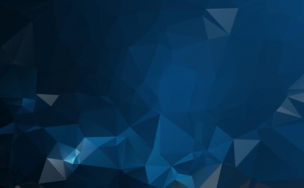 Donkerblauwe veelhoekige illustratie, die uit driehoeken bestaat. geometrische achtergrond in origamistijl met gradiënt. driehoekig ontwerp voor uw bedrijf. Premium Vector