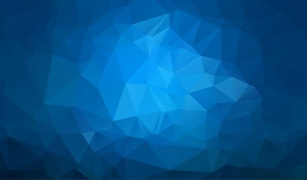 Donkerblauwe veelhoekige illustratie Premium Vector