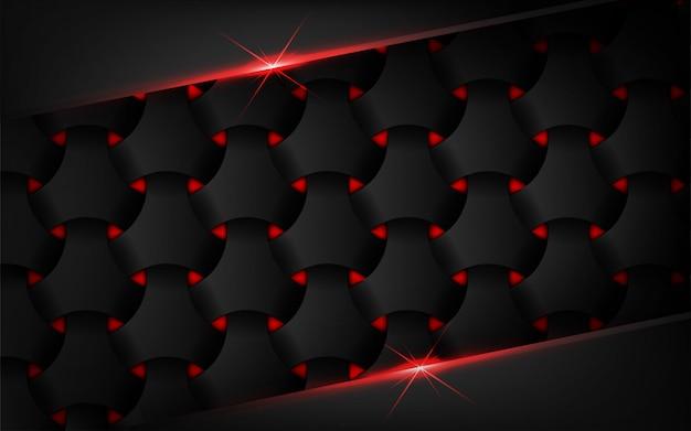 Donkere abstracte achtergrond met de gloed van de rood lichtlens Premium Vector