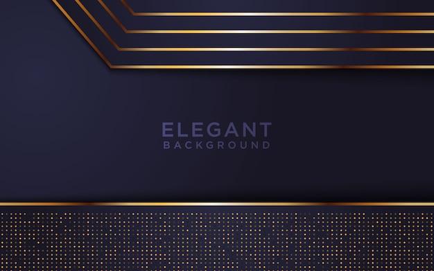 Donkere abstracte achtergrond met gouden lijn Premium Vector