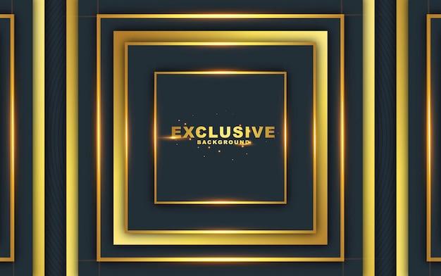 Donkere abstracte achtergrond met luxueus goud Premium Vector