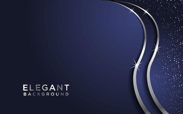 Donkere abstracte achtergrond met overlappende lagen en glitters. textuur met zilveren effect elementdecoratie Premium Vector