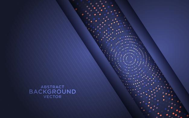 Donkere abstracte achtergrond met zwarte overlappende lagen en glitters Premium Vector