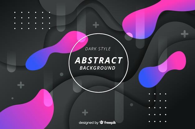 Donkere abstracte achtergrond Gratis Vector