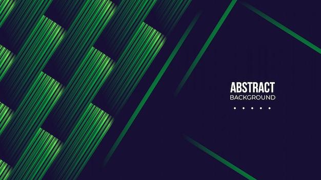 Donkere achtergrond met abstracte groene vormen Premium Vector