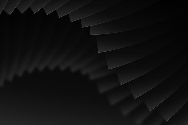Donkere achtergrond met dynamische vormen Gratis Vector