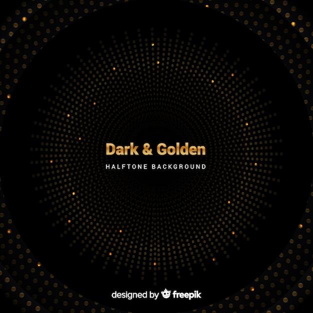 Donkere achtergrond met gouden vonken Gratis Vector