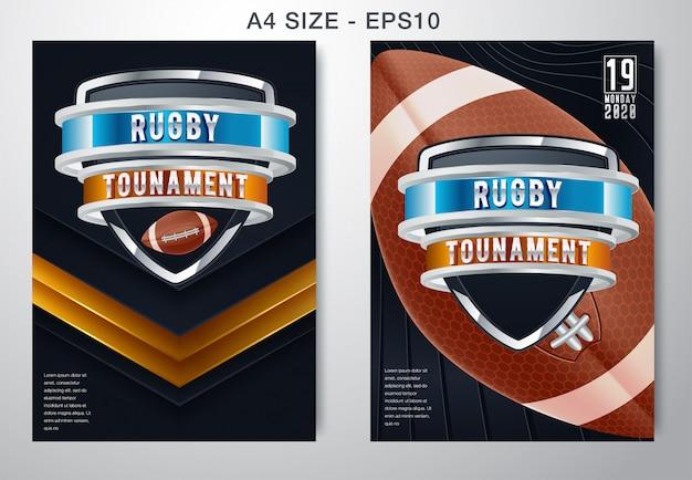 Donkere achtergrond van american football en rugby sporten Premium Vector